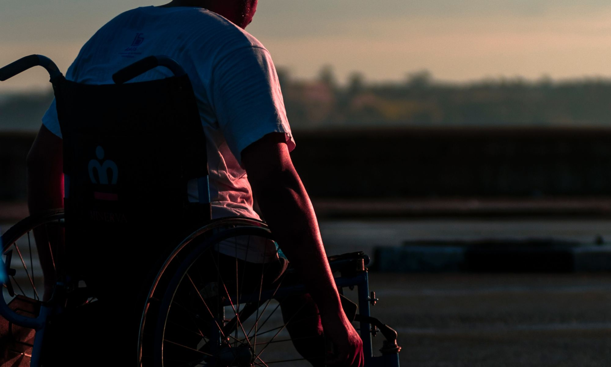 A man with multiple sclerosis in a wheelchair