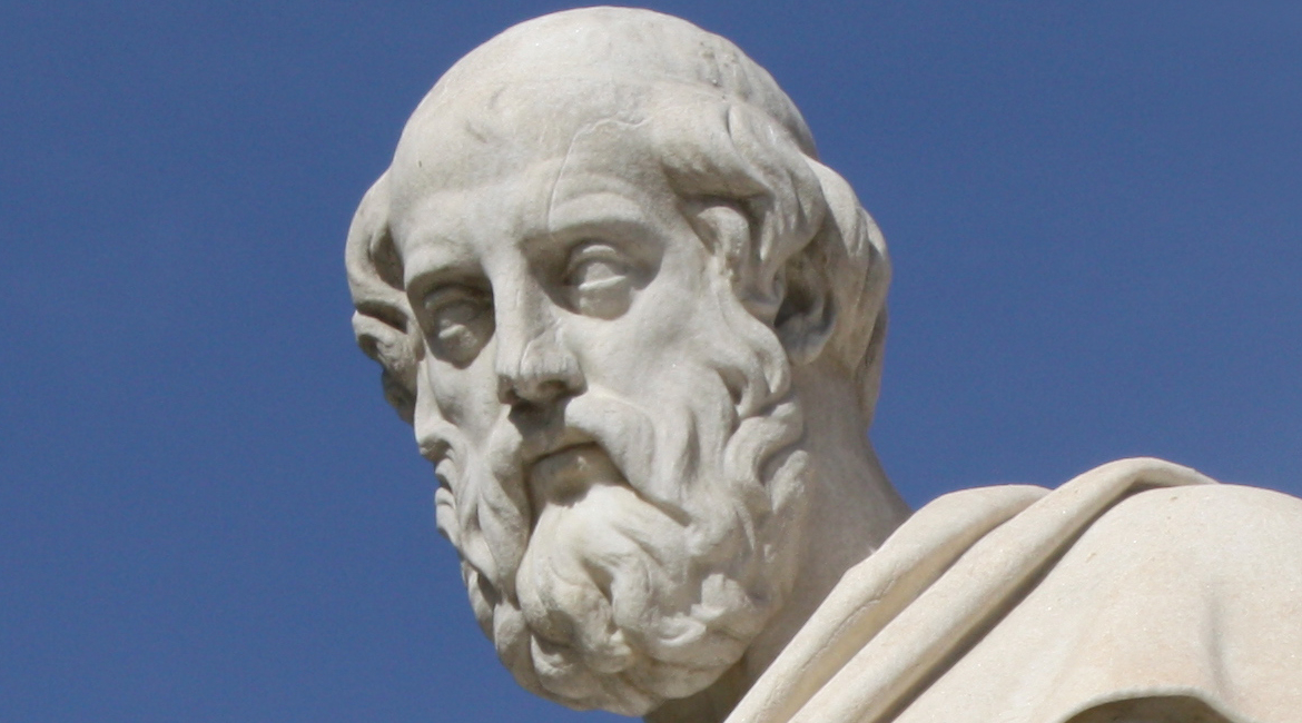 """Statue of Plato in Athens, Greece"""
