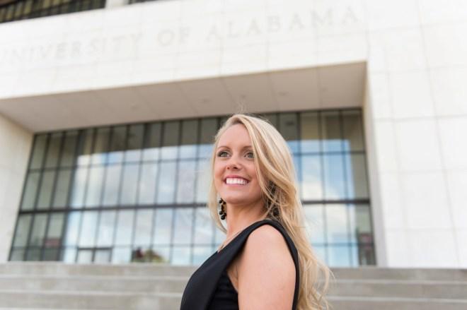Allison's college senior session, University of Alabama campus