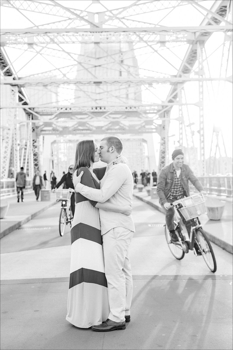 Rachel & Alex's Downtown Nashville Engagement Session by Heather Durham Photography