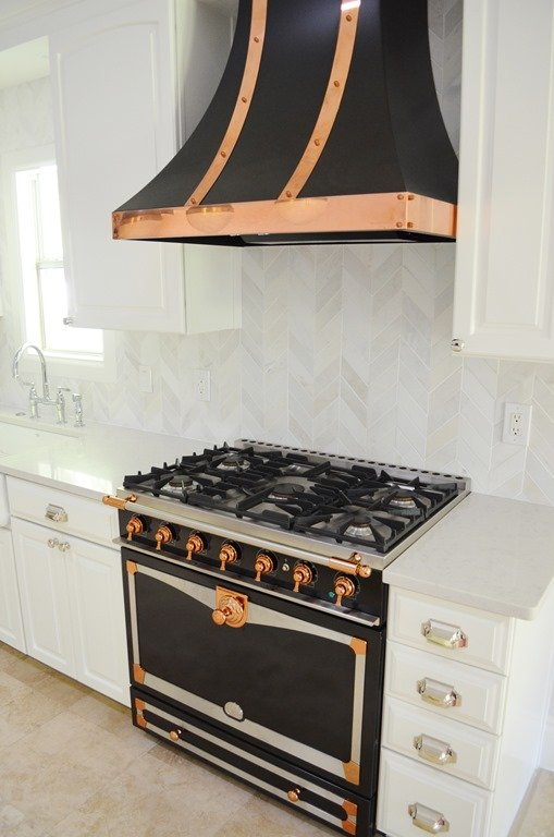 Before Amp After Kitchen With Black Amp Copper Stove Heather Scott Home Amp Design