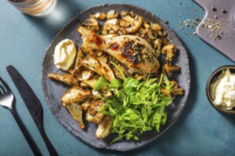 topinambour, recette octobre, recette HelloFresh, recette légume oublié, légume oublié, topinambour aux herbes, topinambour au four, topinambour rôti, topinambour et poulet