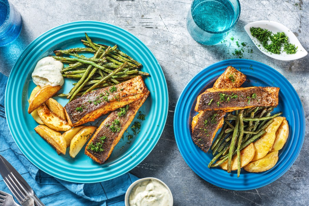 top family recipes: herb-rubbed salmon