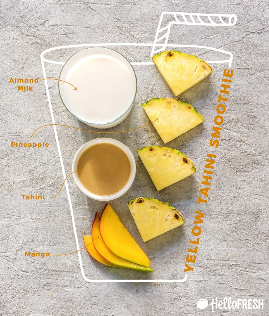 different colored tahini smoothies-HelloFresh-infographic