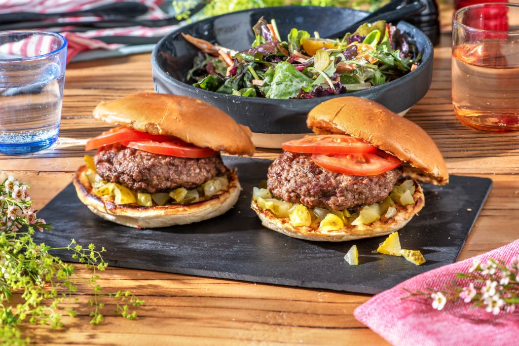 father's day cheese stuffed burgers