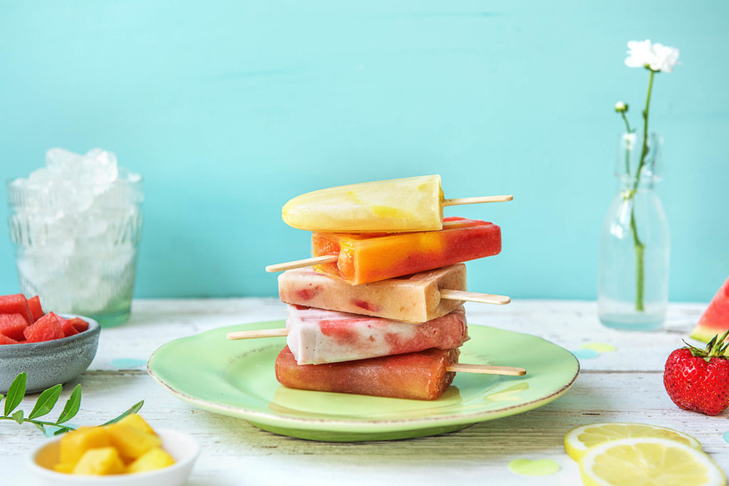 stack of easy summer homemade popsicle recipes