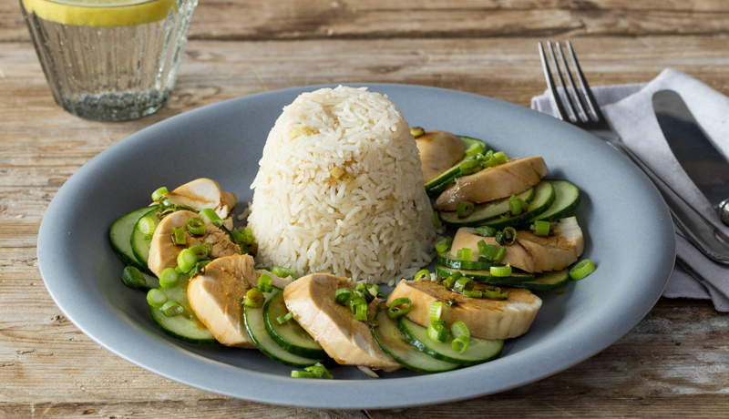 Chicken and Pandan Infused Rice recipe