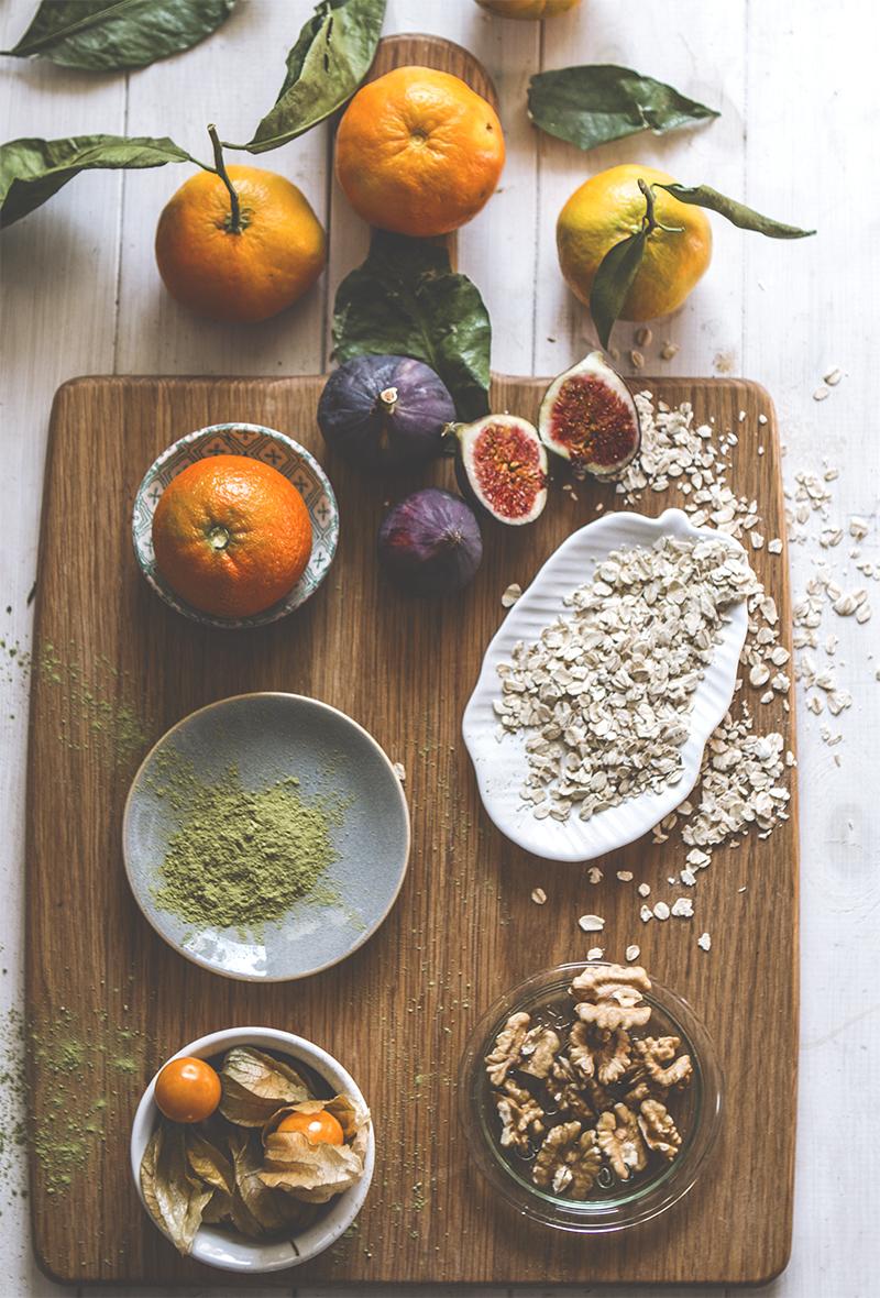 Feigen & Mandarinen Haferbrei Porridge Rezept