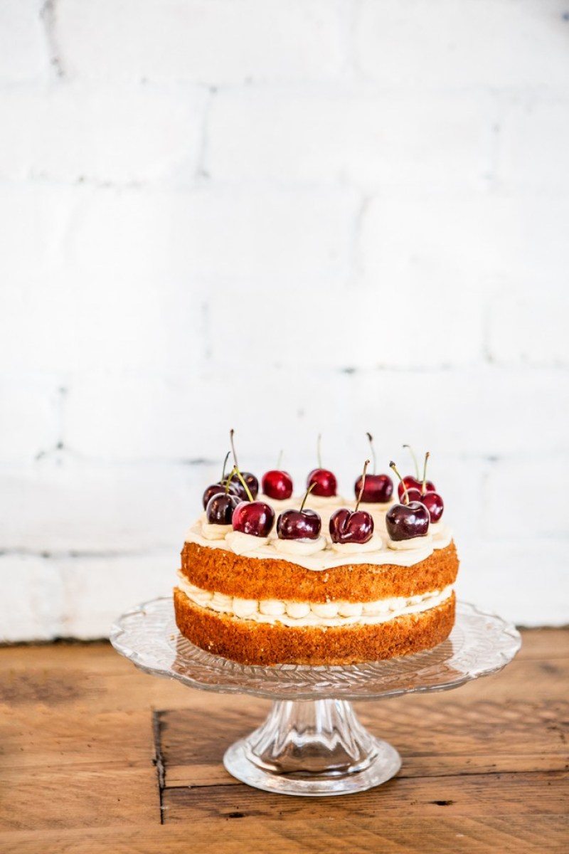coconut and cherry cake
