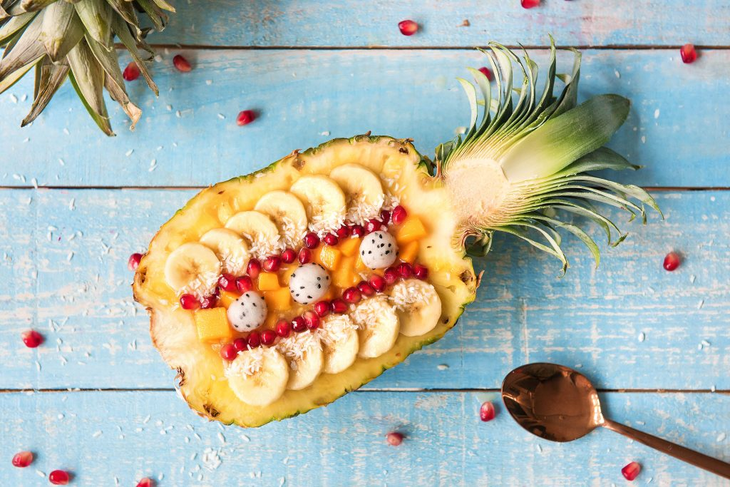 Unsere exotische Ananas Smoothie Bowl: Smoothie Bowl