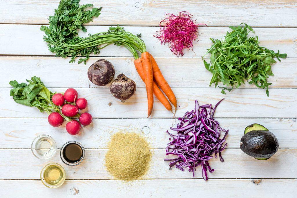 Leckere Salate für die Mittagspause: Zutaten