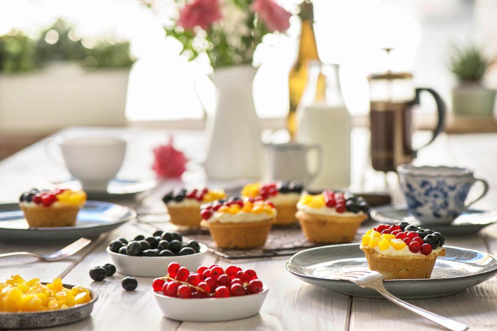 Unsere leckeren Törtchen zum Feiertag -Kaffe und Kuchen