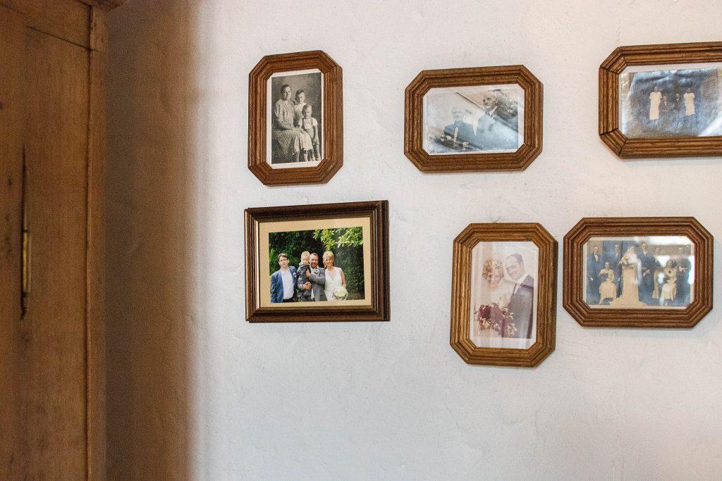 Zu Besuch auf dem Grünkohlfeld: Familienfotos