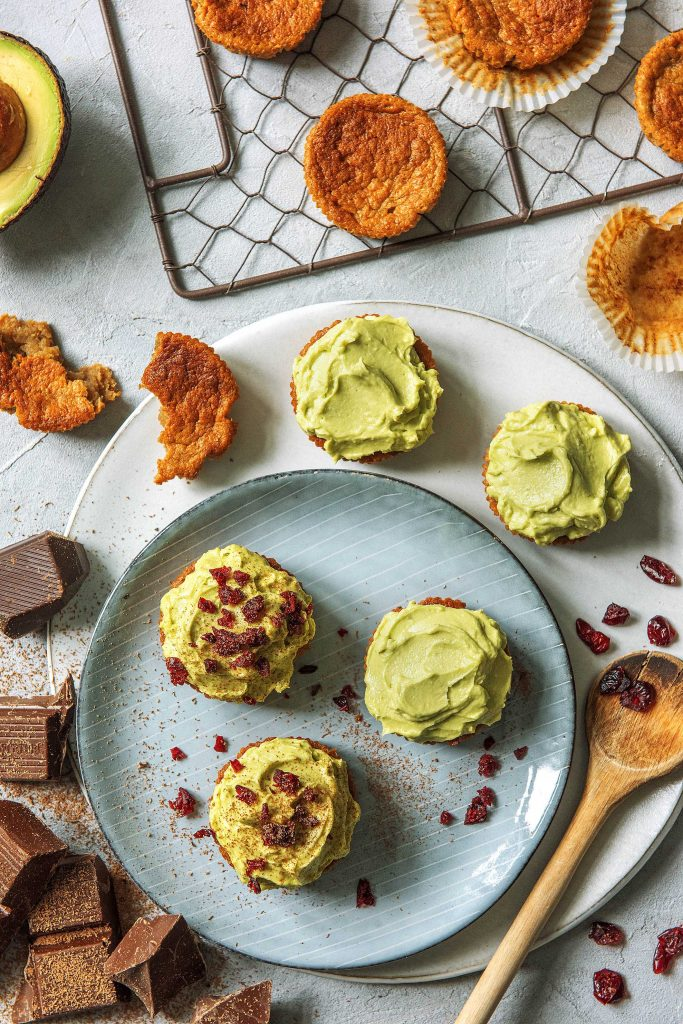 Unsere Geburtstags-Cupcakes: Blick von Oben