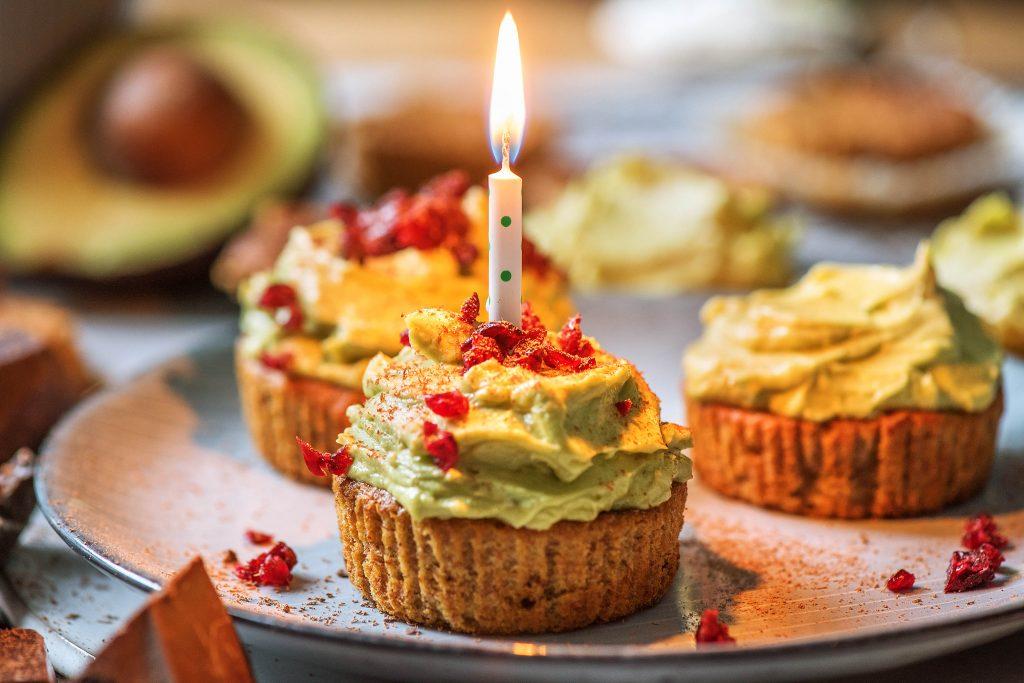 Unsere Geburtstags-Cupcakes: Nahaufnahme