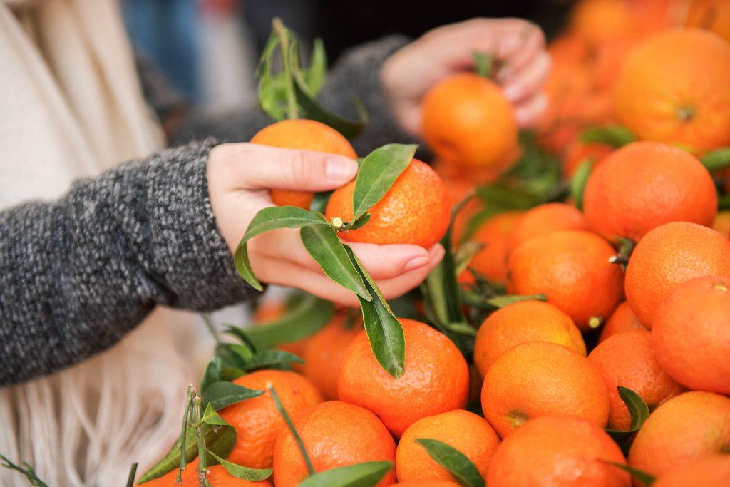 Frisch vom Markt: Mandarinen