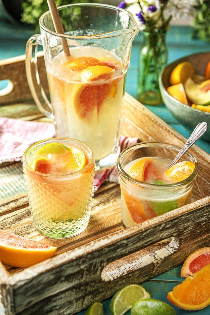 frozen citrus ice slice