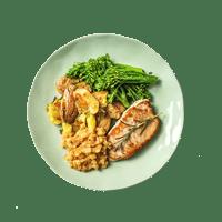Perfect Pork Chops with Cinnamon & Apple Chutney and Rosemary New Potatoes