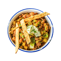 Mexican Broth with Spicy Beef and Beans