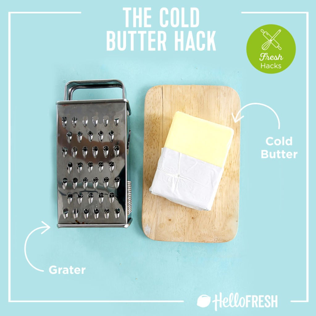 kitchen hacks- hellofresh-tips-how to-cold butter- butter-toast