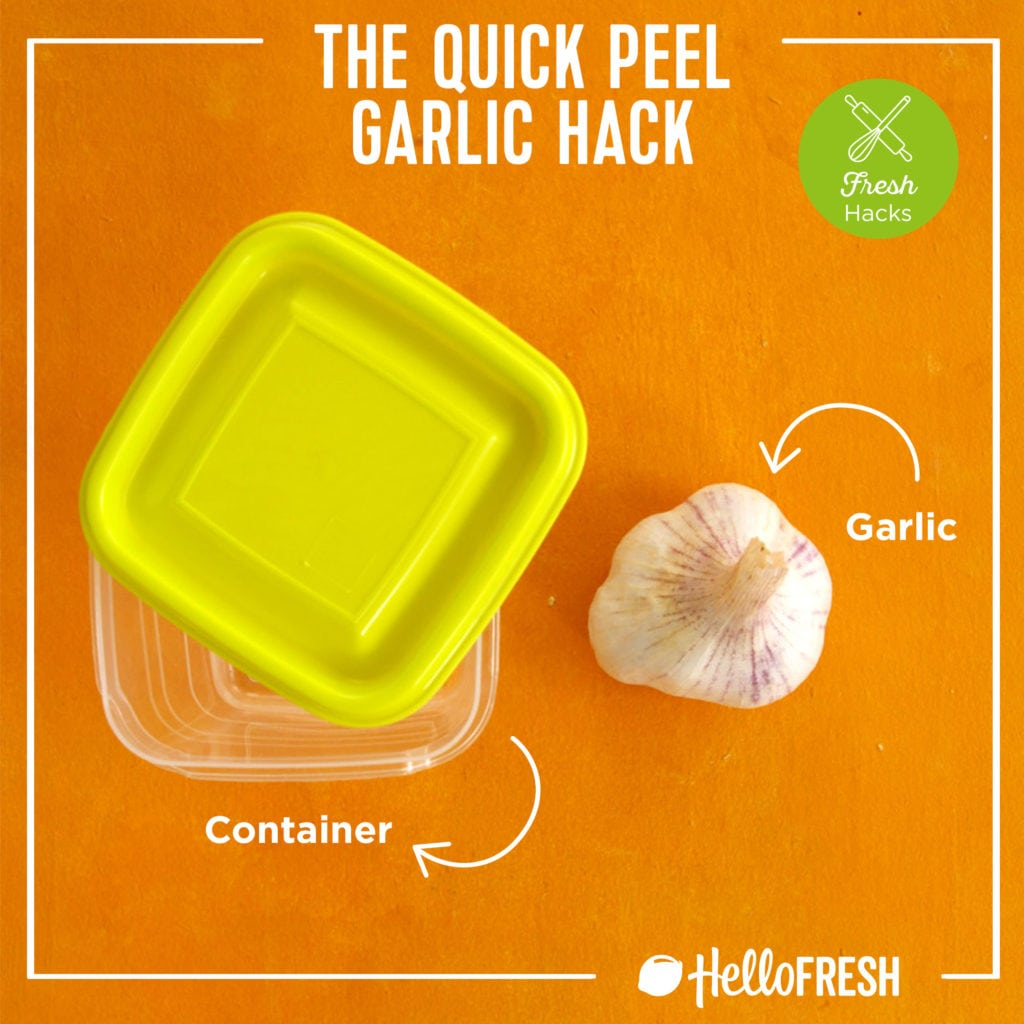 kitchen hacks- hellofresh-tips-how to-garlic -peel garlic