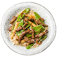 Hoisin Beef Stir Fry with Baby Corn