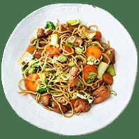 Japanese Teriyaki Salmon with Soba Noodles