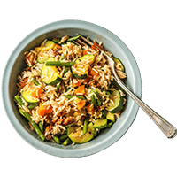 Spanish Rice Bowl with Chorizo and Veggies