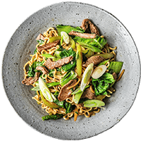 Five Spiced Lamb Stir-Fry with Asian Greens