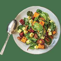 Goat Cheese, Pecan & Roast Vegetable Salad