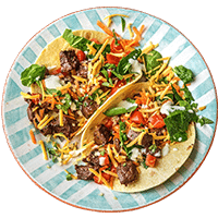 Mexican Beef Tacos with Zesty Lime Yoghurt