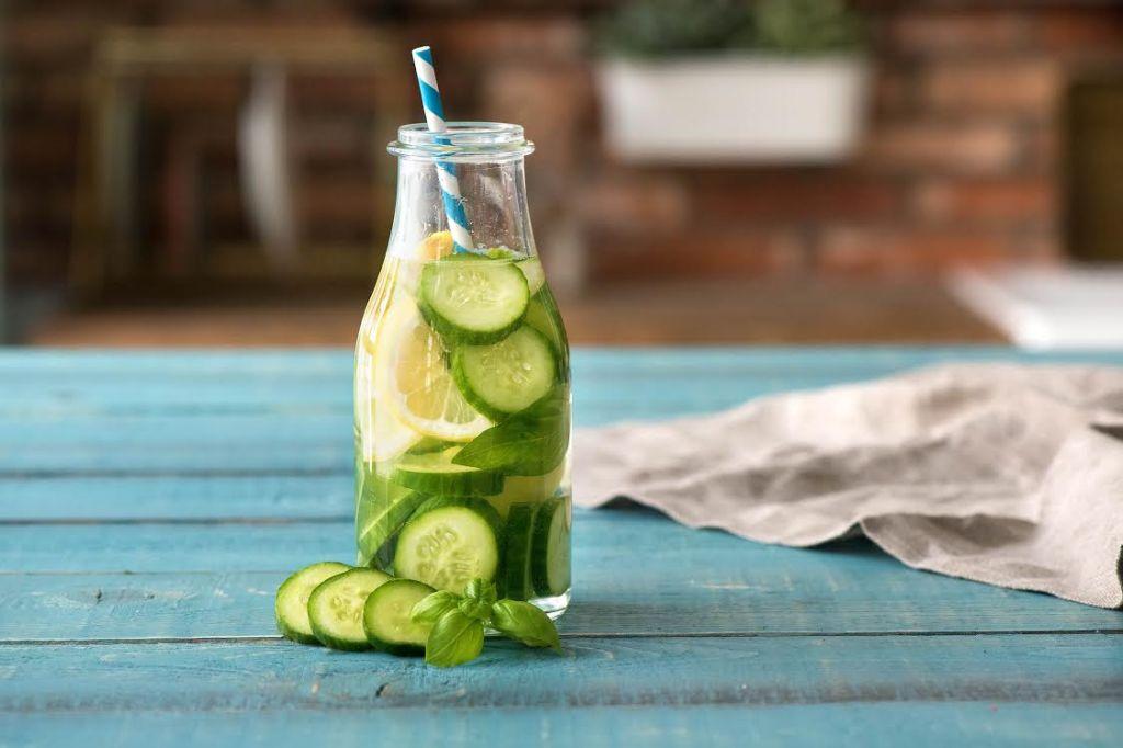 infused water-cucumber-lemon-basil-HelloFresh