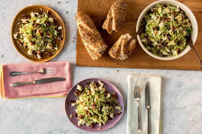 Best Thanksgiving Sides-HelloFresh-brussels-sprouts-gorgonzola-pecan-salad