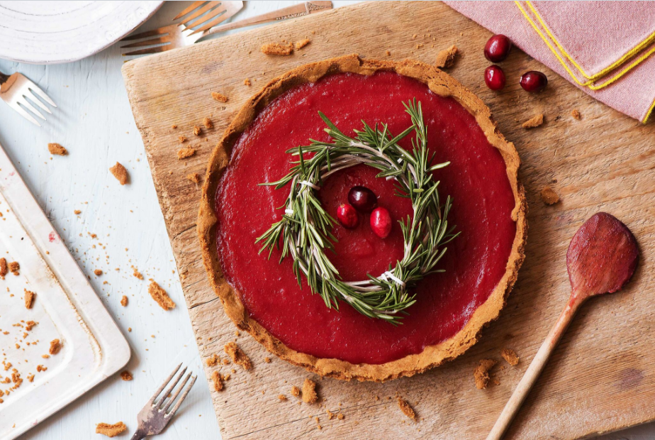 cranberry recipes-curd-tart-HelloFresh