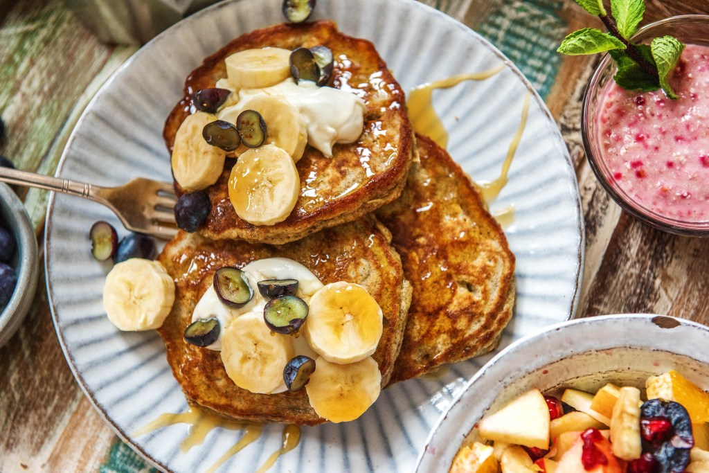 easy breakfast recipes-pancakes-almond-flour-HelloFresh
