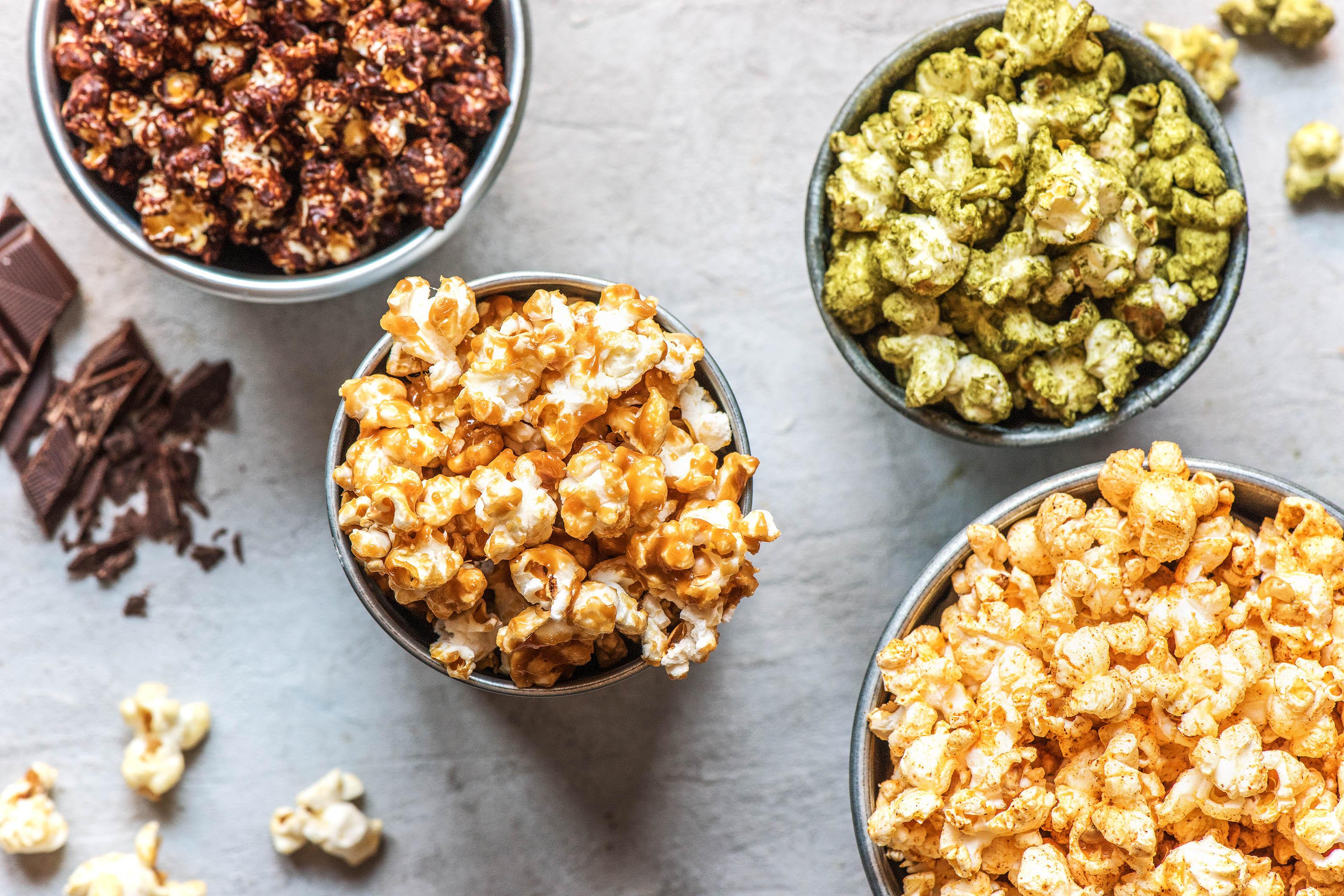flavored popcorn-HelloFresh-super bowl recipes