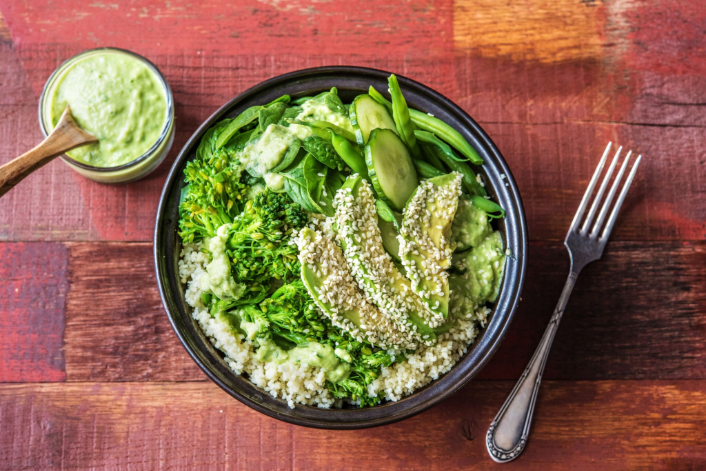green foods-veggie-couscous-bowl-HelloFresh