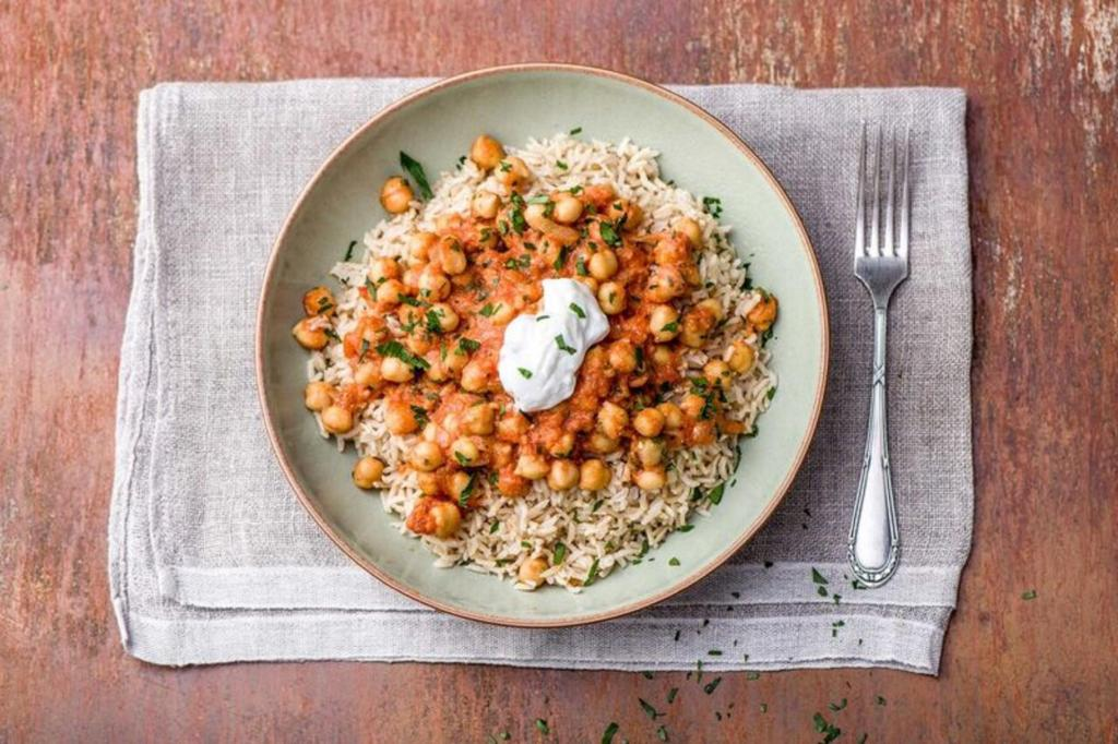 cilantro recipes-reservation-in-HelloFresh-chickpea-tikka-masala