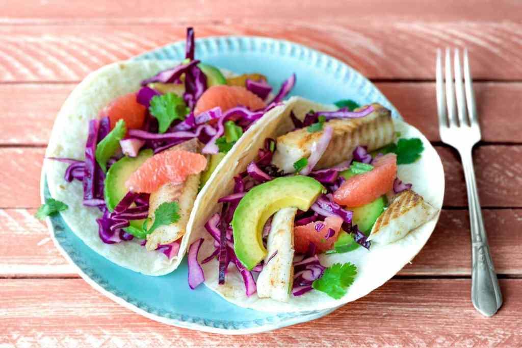 cilantro recipes-cinco-de-mayo-reservation-in-HelloFresh-fish-grapefruit-tacos