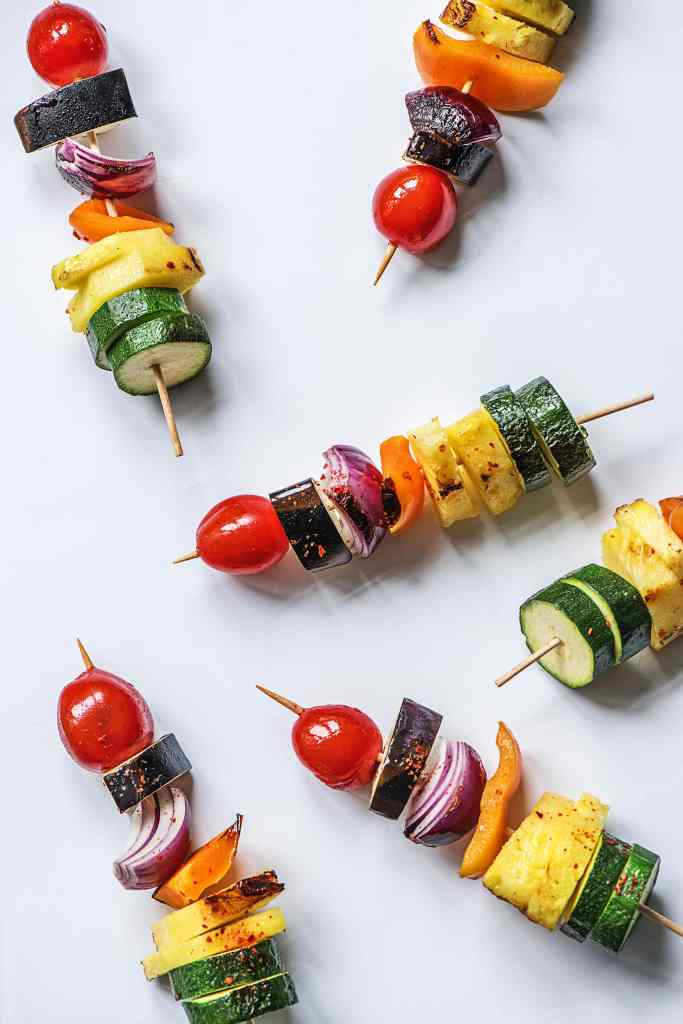 easy snacks for kids-rainbow-skewer-swords-HelloFresh