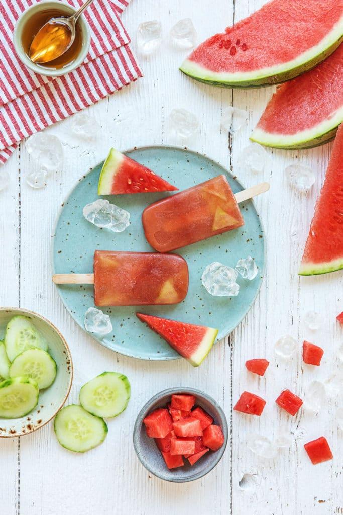 homemade popsicles-cucumber-watermelon-recipes-HelloFresh