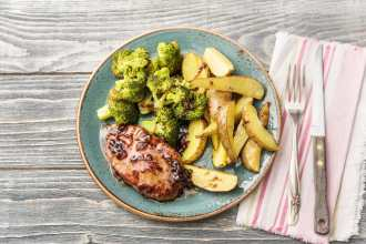 cherry-balsamic-glazed pork chops-HelloFresh