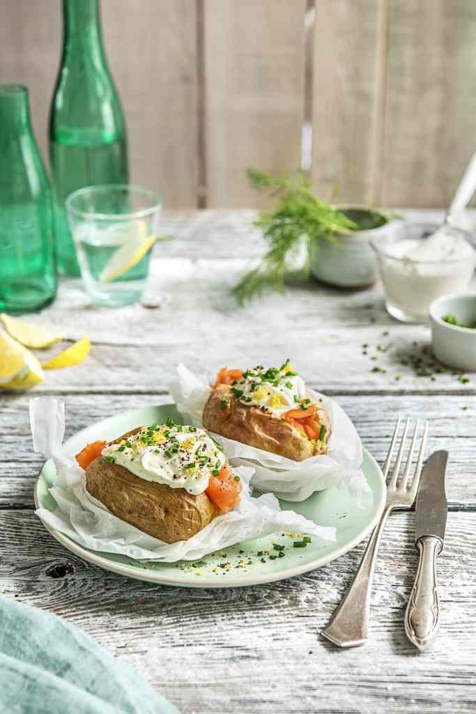 how to serve smoked salmon-loaded-baked-potato-recipe-HelloFresh
