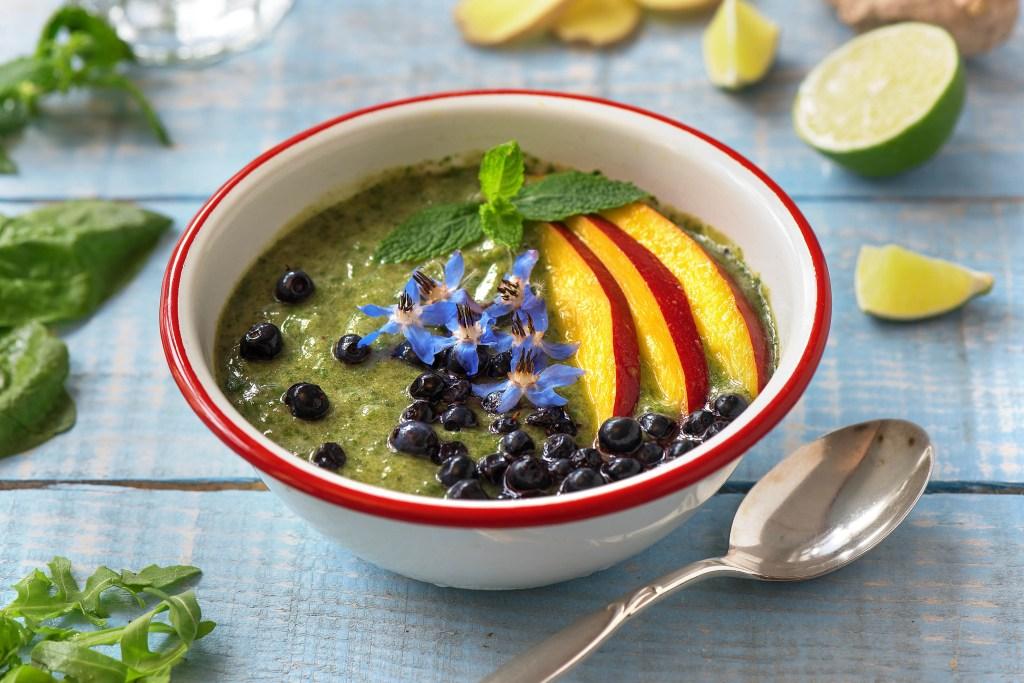 easy zucchini recipes-zucchini-green-smoothie-bowl-recipe-HelloFresh