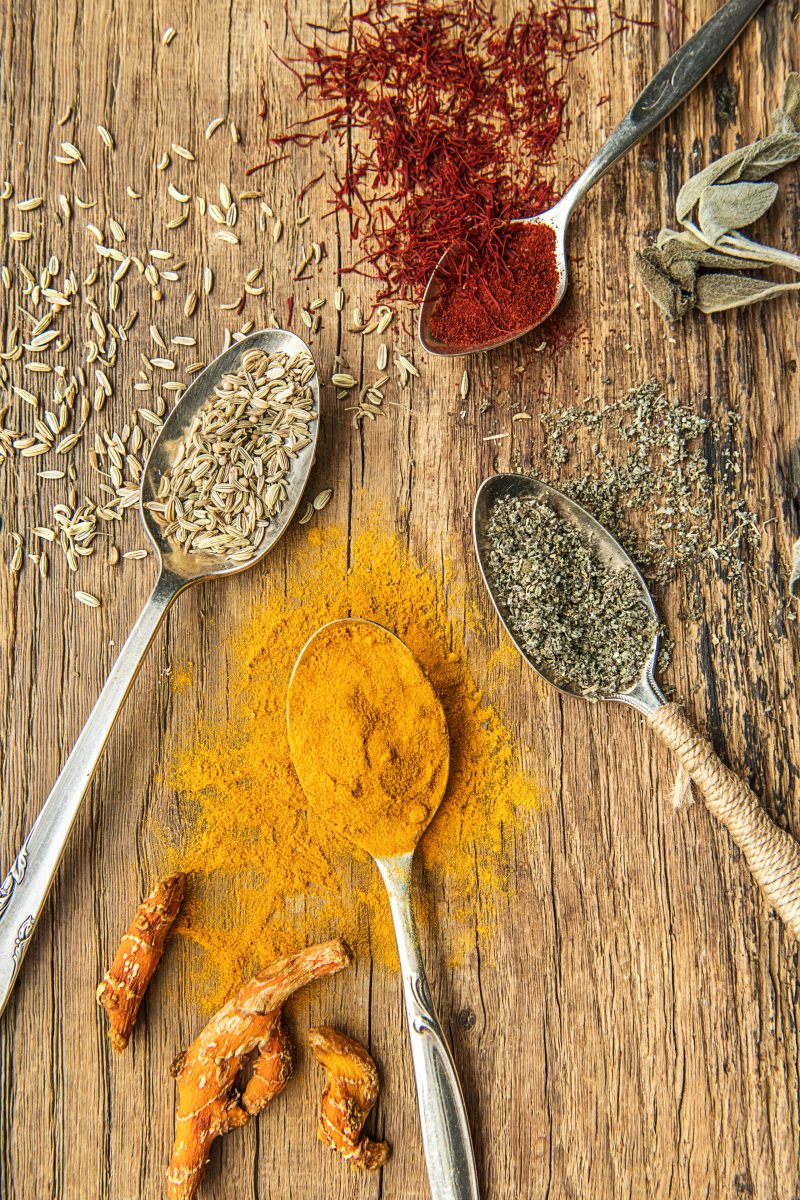 Herbs and Spices-HelloFresh-Healing Spices-Turmeric-Saffron-Oregano-Fennel