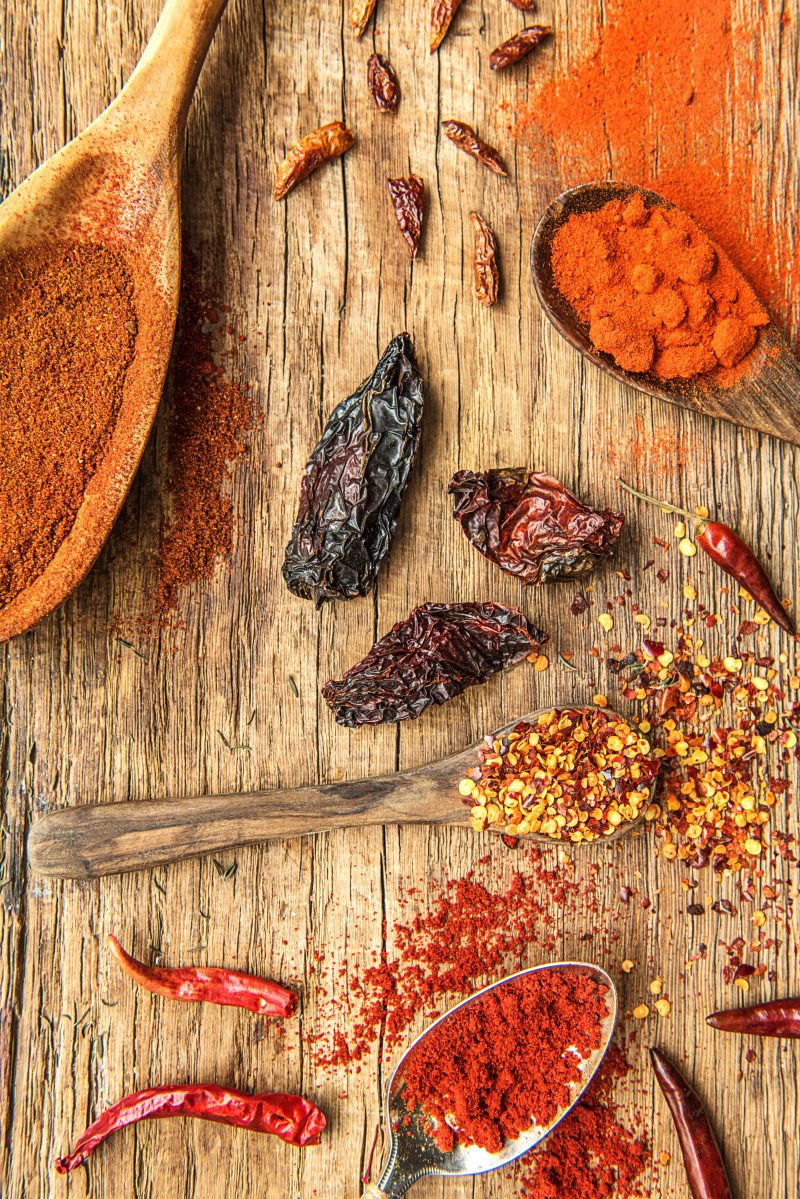 Herbs and Spices-HelloFresh-Chili-Peppers-Chili Powder-Cayenne-Chili Flakes-Chipotle