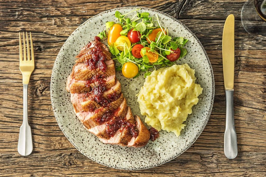 cranberry recipes-HelloFresh-duck breasts