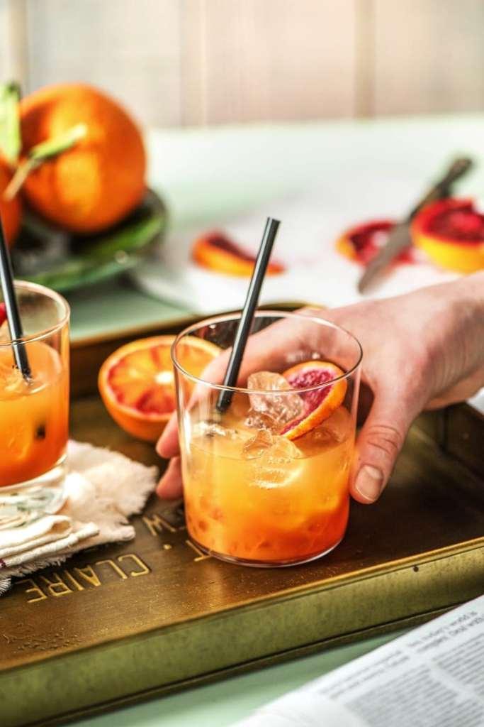 holiday drinks-blood-orange-gin-tonic-HelloFresh