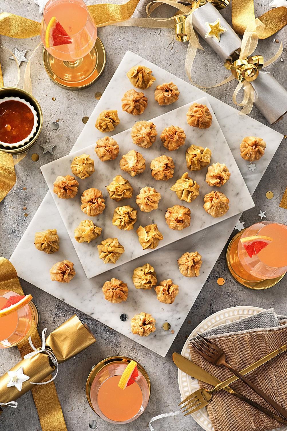 easy holiday appetizers-HelloFresh-dumplings