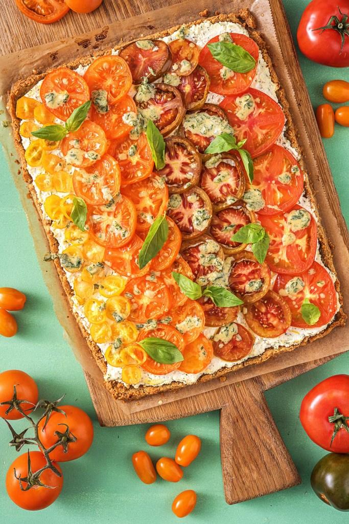 slab pie-tomato-ricotta-recipe-HelloFresh
